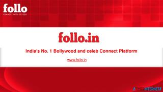 India�s No. 1 Bollywood and celeb Connect Platform