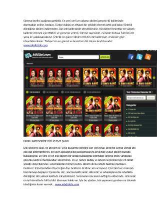 Mbdiziizle.com canlı dizi izleme sitesi tanıtımı