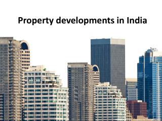 property developments in india