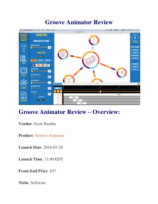 Groove Animator Review