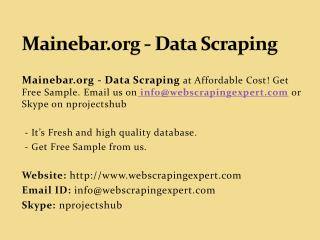 Mainebar.org - Data Scraping