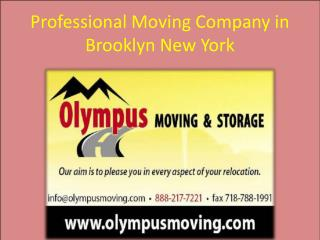 Professional Moving Company in Brooklyn New York