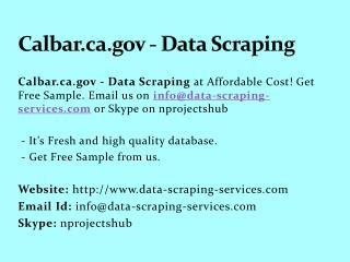 Calbar.ca.gov - Data Scraping
