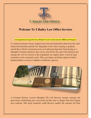 Criminal Defense Lawyer Memphis TN