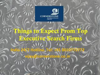 Things to Expect From Top Executive Search Firms