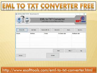 EML to TXT converter