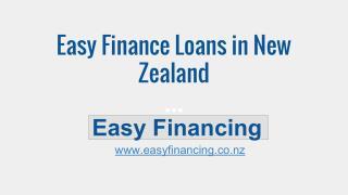 Easy Finance Loans New Zealand