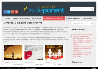 Divorce & Seperation in Singapore