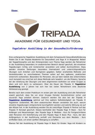 Yogalehrer Ausbildung in der Gesundheitsförderung