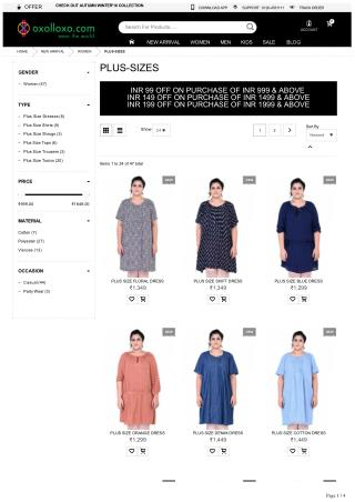 Plus size clothing - Buy latest plus size dresses online | oxolloxo