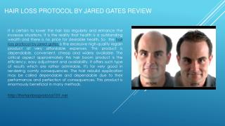 Hair Loss Protocol by Jared Gates