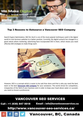 Top 3 reasons to outsource a Vancouver SEO company