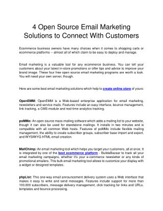 4 Open Source Email Marketing Solutions to Connect With Customers