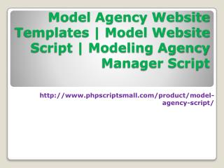 Model Agency Website Templates|Model Website Script|Modeling Agency Manager Script