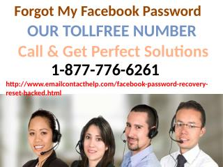 Get back the access to your Recover Facebook password 1-877-776-6261