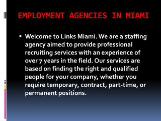 Executive Employment Agencies