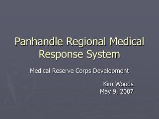 Panhandle Regional Medical Response System