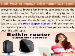 8 DIY Ways To Improve Belkin Router Wi-Fi Signal