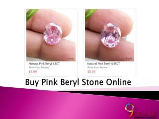 Buy Pink Beryl Stone Online