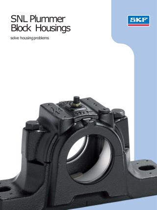 RiccoTek shares the document about the SNL Plummer Block Housings. Know more at: http://www.riccotek