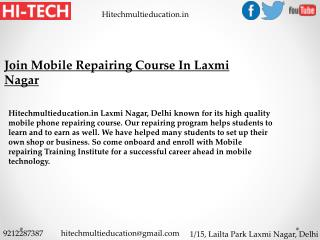 Join Mobile Repairing Course In Laxmi Nagar
