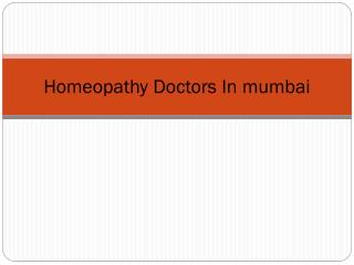 Homeopathy Doctors in Mumbai