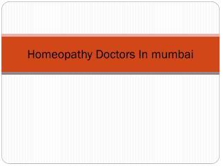 Homeopathy Doctors in Mumbai
