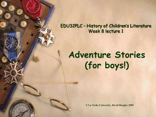 EDU32PLC   History of Children s Literature Week 8 lecture 1