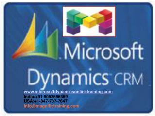Microsoft Dynamics CRM 2016 Online Training