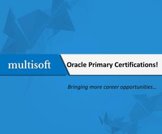 Oracle Primary Certifications!