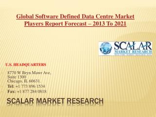 Global Software Defined Data Centre Market By Solution, Market Dynamics, Market Segmentation, Market Geography Analysis,