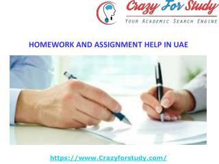 HOMEWORK AND ASSIGNMENT HELP IN UAE | Crazyforstudy