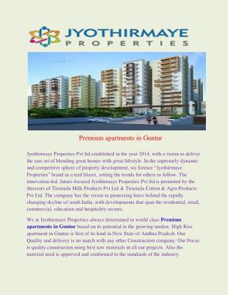 Premium apartments in Guntur