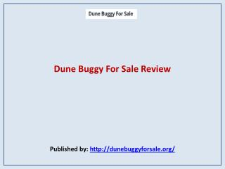 Dune Buggy For Sale Review