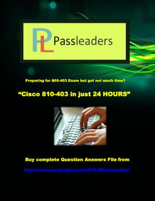Passleader 810-403 Braindumps