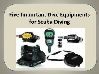 Five Important Dive Equipments for Scuba Diving
