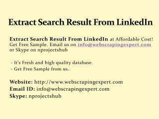 Extract Search Result From LinkedIn