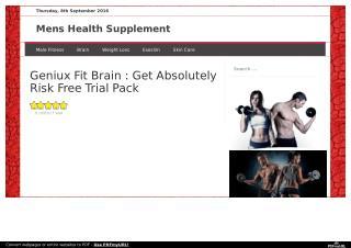 http://www.menshealthsupplement.info/geniux-fit-brain