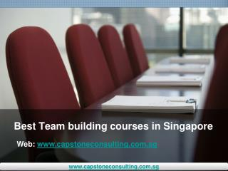 Best Team building courses in Singapore