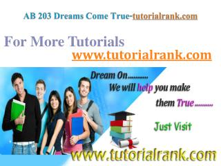 AB 203 Dreams Come True / tutorialrank.com