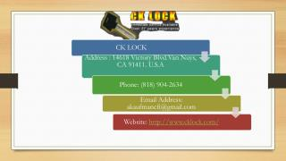 Ck Lock Offers Complete Commercial Locksmith Solutions