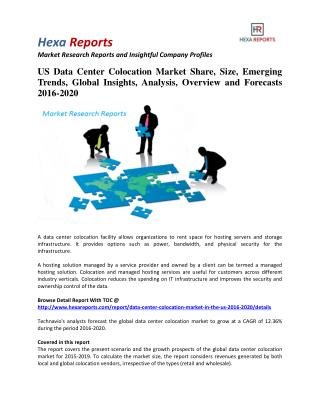 US Data Center Colocation Market Insights, Growth and Overview 2016-2020: Hexa Reports
