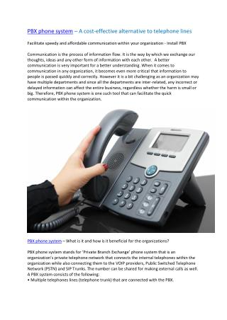 PBX Phone System in Dubai