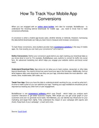How To Track Your Mobile App Conversions