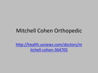 Mitchell Cohen Orthopedic