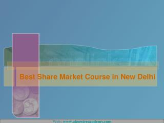 Best share market course in New Delhi