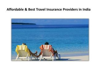 Affordable & Best Travel Insurance Providers in India