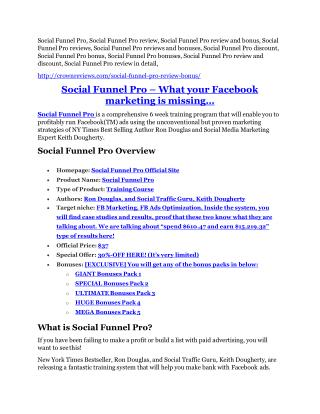 Social Funnel Pro review - 65% Discount and FREE $14300 BONUS