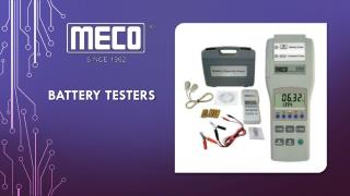 Quality Battery Tester - Meco