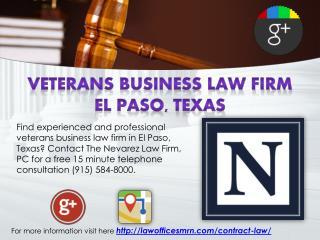 Veterans Business Law Firm El Paso, Texas